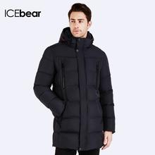 ICEbear 2016 Top Quality Warm Men's Bio Down Jacket Waterproof Casual Outerwear Thick Medium Long Coat Men Parka 16M899D(China (Mainland))
