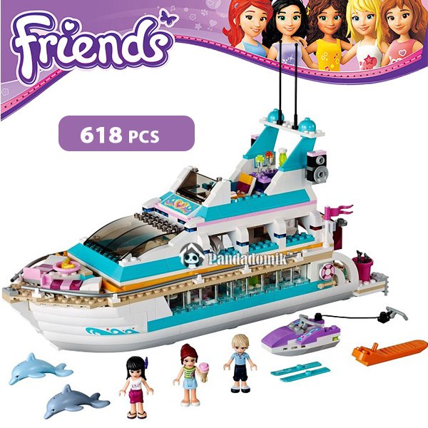 Dolphin Cruiser Building Blocks Set Compatible with lego Friends 618 Pcs 3 Toy Figures Brinquedos Bricks Toys for Girls(China (Mainland))