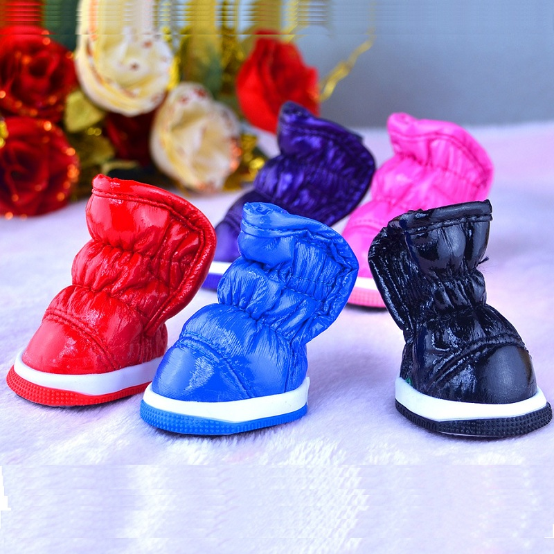 Fashion Pet Dog Shoes Cat Puppy Soft Cozy Boots 4pcs Footwear Breathable Pet Shoes Casual Shoes Running Trainning Product 5Sizes(China (Mainland))