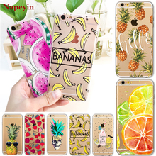 Buy Hot Fruit Pineapple Banana Case Cover Apple iPhone 7 6 6S Plus 5 5S SE Soft Silicon Transparent Coque iphone 7 Cases for $1.29 in AliExpress store