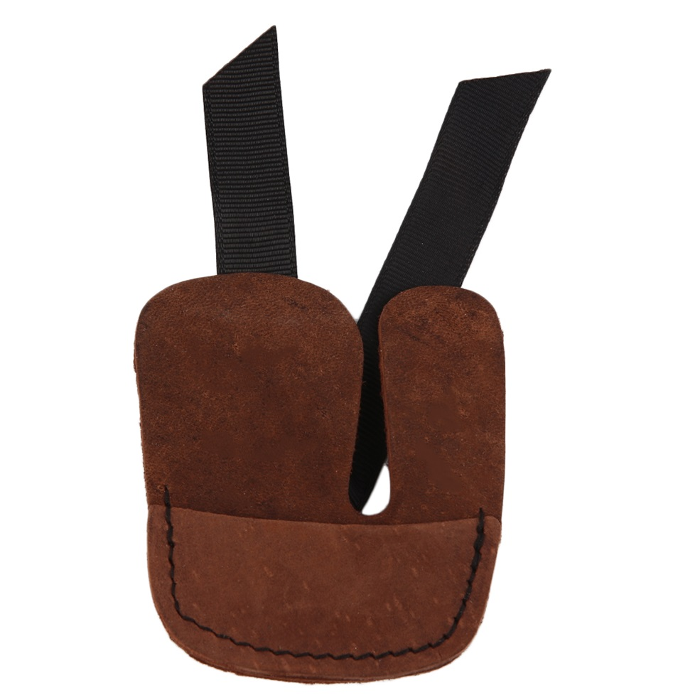 Durable Hunting Shooting Archery Bow Finger Protector Leather Finger Guard Tab shooting gloves New
