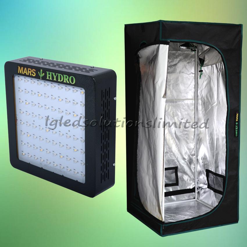 MarsHydro Led Grow Light MarsII 400 177W Draw Power +70*70*160CM Hydroponics Indoor Grow Tent Stock in USA,UK,AU,Canada,UK(China (Mainland))