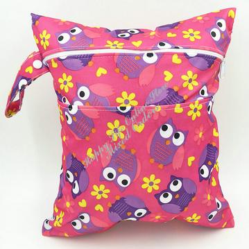 PB14 Travel Portable Washable Waterproof Fashion Owl Print Baby Diaper Nappy Changing Mat Bags Organizer(China (Mainland))