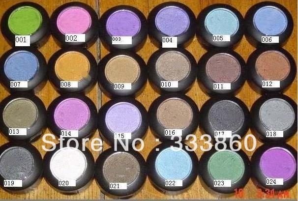 50 pcs 2013 New Makeup 1.5g eyeshadow 24 different Color eyeshadow pigment ! (20pcs/lot ) Free Shipping !(China (Mainland))