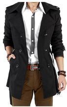 2016 Winter Long Trench Coat Men Cloak Cape Famous Luxury Brand Mens British Style Casual Slim Khaki Double Breasted Windbreaker(China (Mainland))