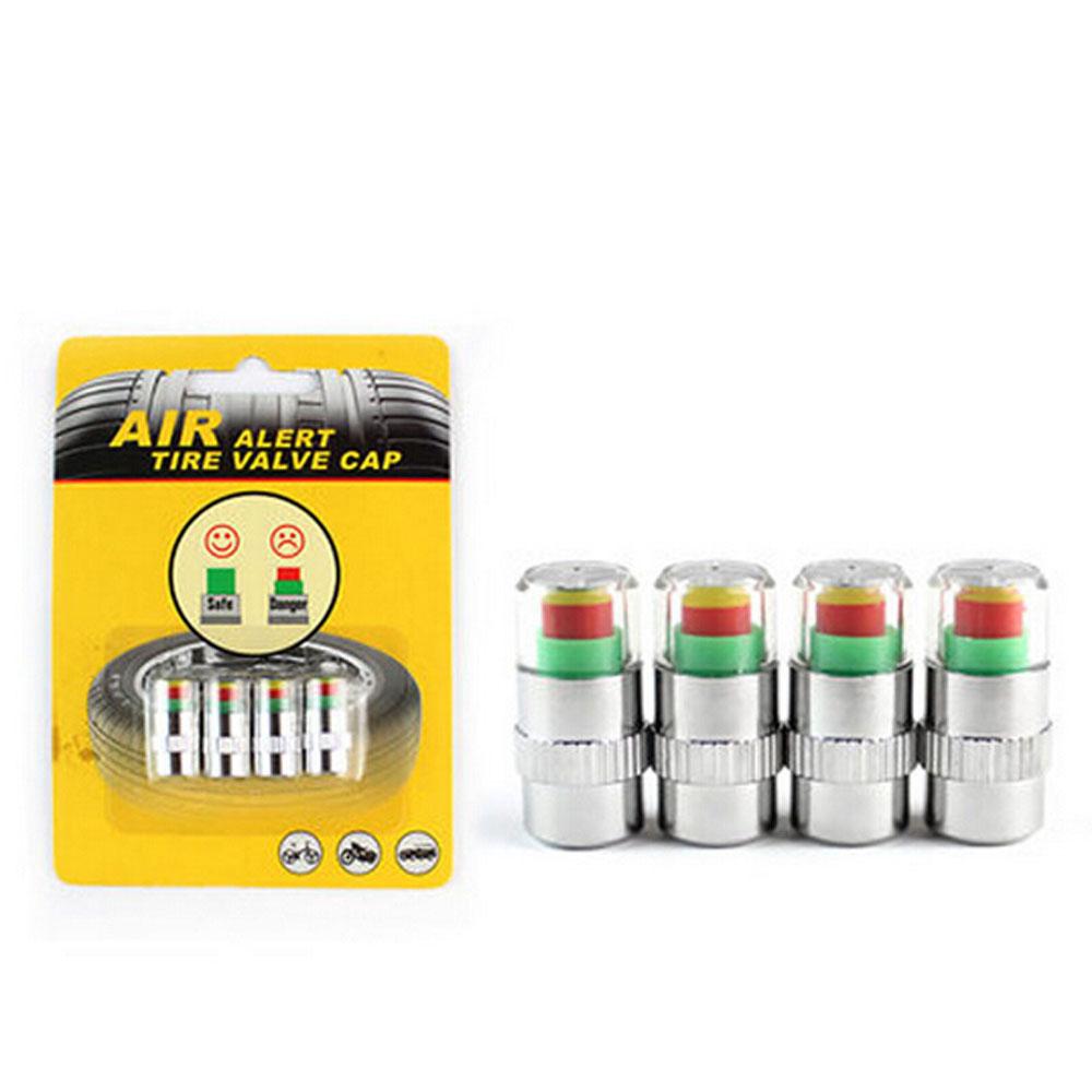 4pcs/lot Original Package Car Tire air Pressure Diagnostic Tools Monitor Indicator Valve Caps Alert Sensor wheels car styling