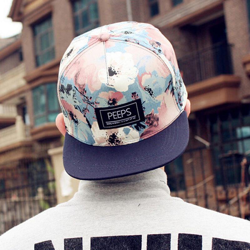 Adjustable Snapback Pop Young Hip-pop Bboy Hat Cool Floral Print Trucker Hat Street Outdoor Sun Baseball Cap For Mens Women(China (Mainland))