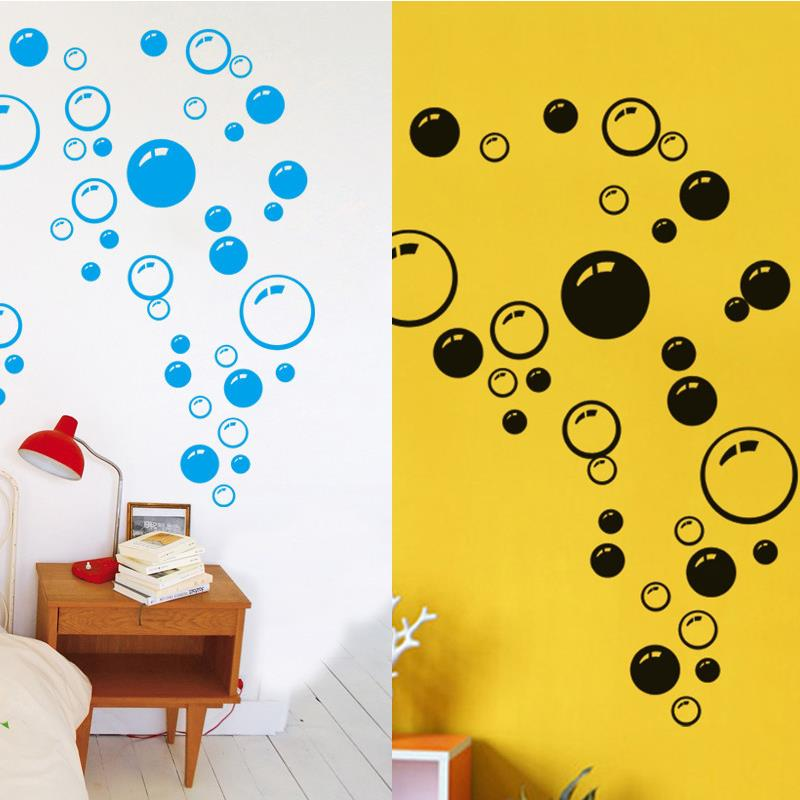Bubbles Wall Bathroom Window Shower Tile Decoration Kid Car Sticker Quality Colorful Circle Pattern(China (Mainland))
