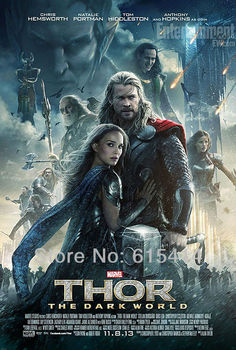 """21 Thor 2 The Dark World 2013 movie 14""""x21"""" inch wall Poster with Tracking Number"""