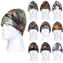 Drop shipping New Camo Winter Warm Beanie Hunting Cycling CS Fleece Tactical Army Stocking Headwear Hats Watch Cap Free shipping(China (Mainland))