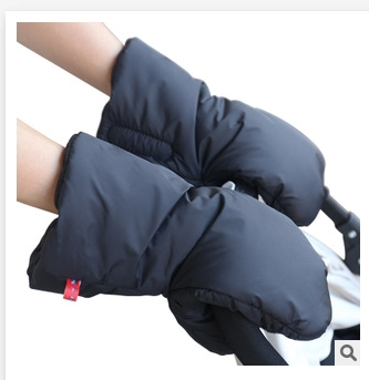 Stroller accessories winter waterproof anti-freeze pram hand muff foldable extra thick warm pram gloves baby carriage hand cover(China (Mainland))