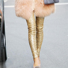Women Shitsuke Sequins Leggings Skinny Stretchy Slim Paillette Pencil Pants Wholesale(China (Mainland))