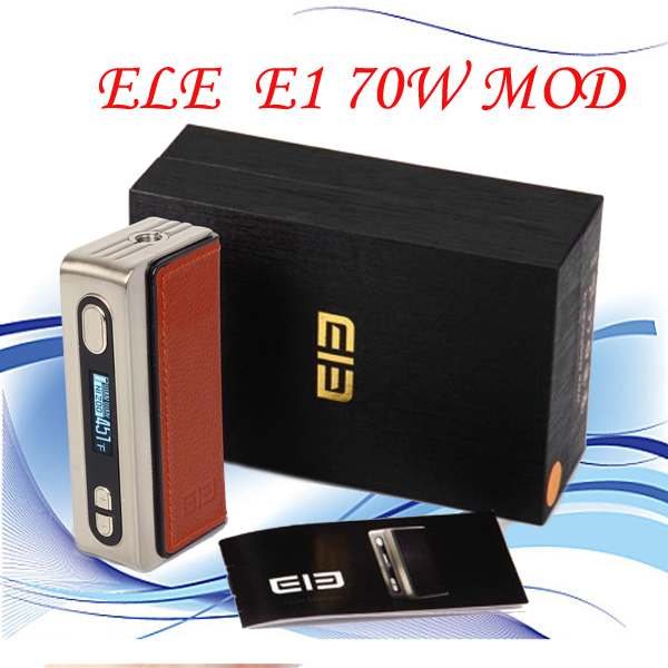 10pcs  Whole sale  Electronic cigaretteELE E1 70W BOX mod 18650  battery Temperature control e cigarette mechanical mods<br><br>Aliexpress