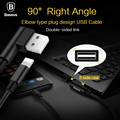 Baseus right angle elbow plug dual direction insert data charging power sync usb Cable metal Nylon