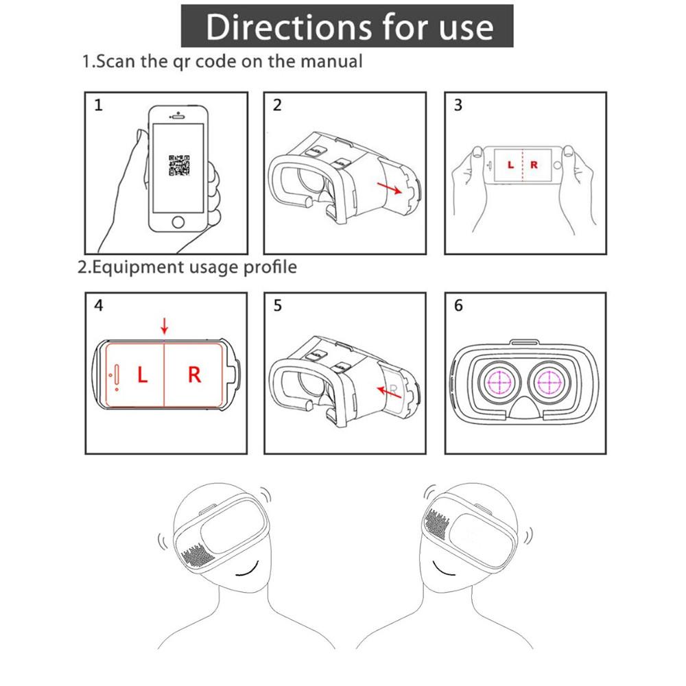 ถูก 3D VRกล่องgenแว่นตาเสมือนจริงกระดาษแข็งโฮมเธียเตอร์เกมสำหรับ3.5-6นิ้วโทรศัพท์