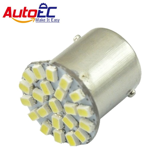 AutoEC 10pcs Car Marker Lamps P21W P21/5W 22 LED SMD1206 DC 12V White Blue Red Yellow Free shipping #LF01