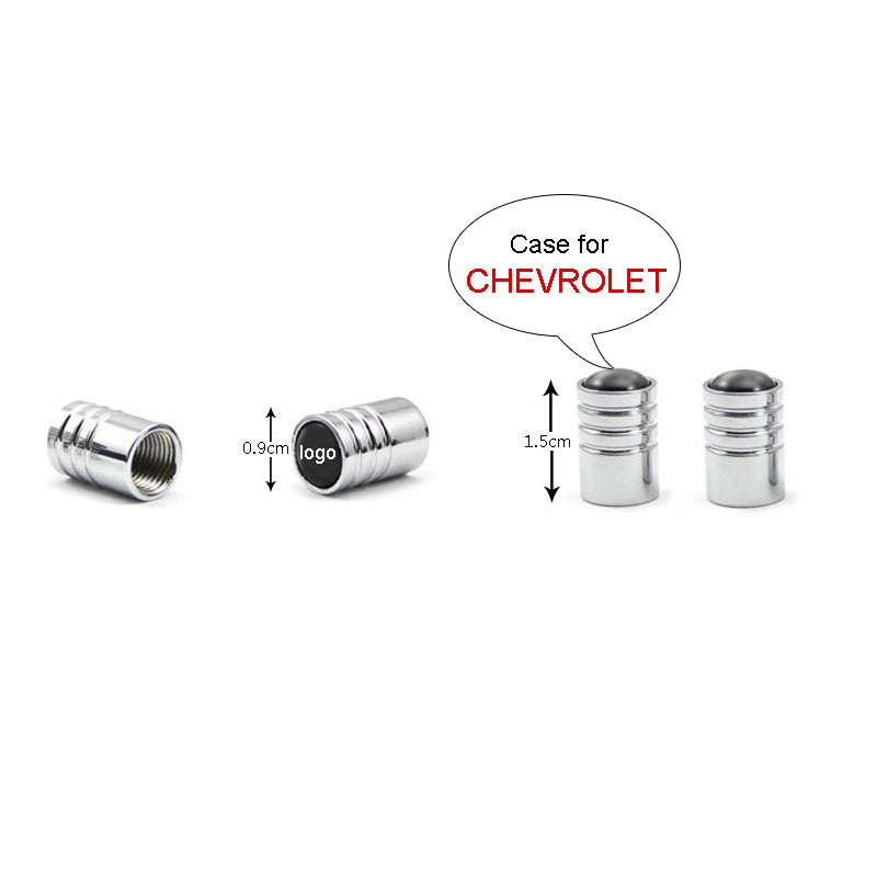 Free Shipping Car-styling 4PCS/Set Car Anti-Theft Wheels Tires Valves Tyre Stem Air Caps Stainless Valve Caps Case For CHEVROLET(China (Mainland))