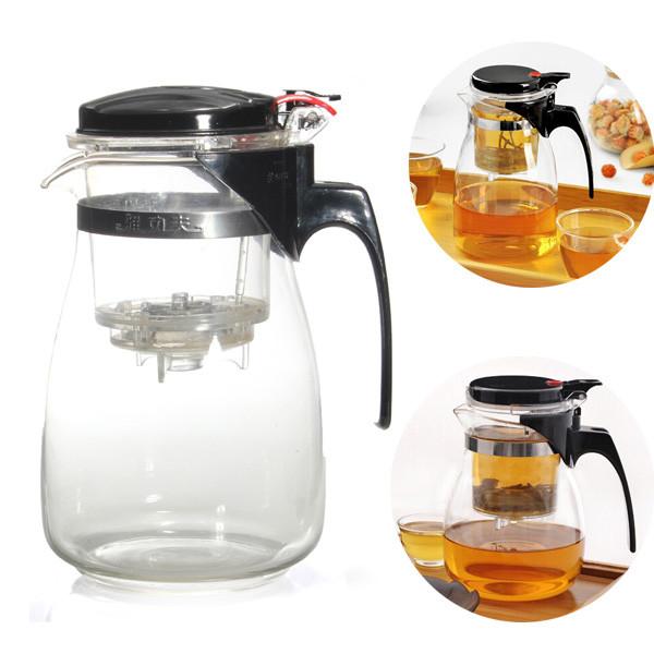 Hot Sale New Arrival 900ml Simple Tea Kettle Tea Pot Heat Resistan Glass Teapot Convenient Office Tea Pot Set ETP002(China (Mainland))