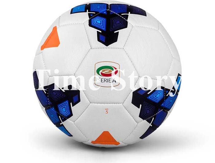 2015 Hot Sale Brand New Serie A Match Ball Top Quality Soccer Ball PU Machine Stiched Official Weight Size 5 Football For Match(China (Mainland))