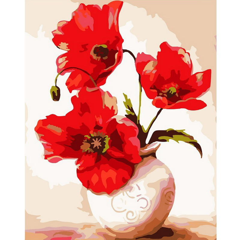 Exquisite colorful diy digital oil painting flower home for Diy colorful wall art