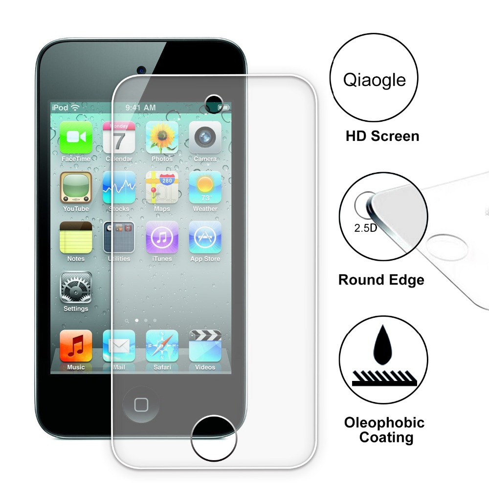Qiaogle Anti explosion Tempered Glass Protection Film for font b Apple b font iPod Touch 4