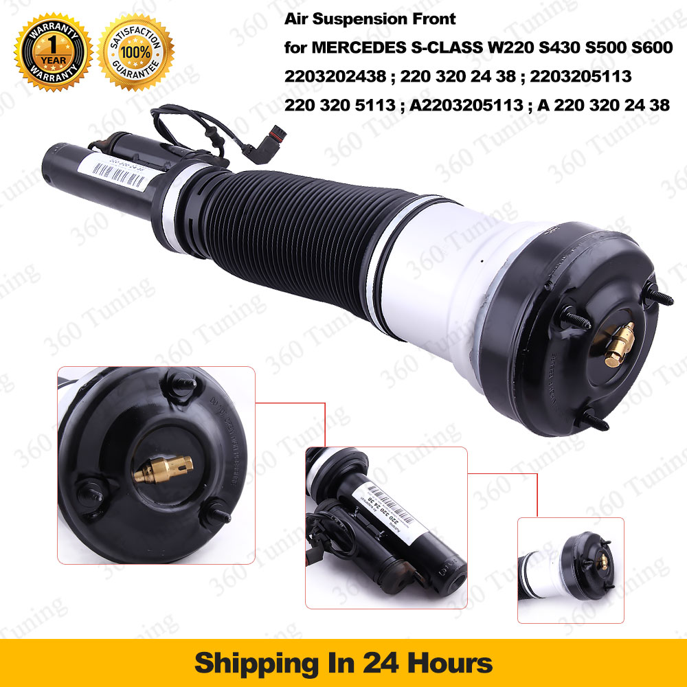 FRONT AIR SUSPENSION STRUT SHOCK MERCEDES S-CLASS W220 S430 S500 S600 S55 AMG 2203202438 2203205113 Super Shock Absorber 98-06(China (Mainland))