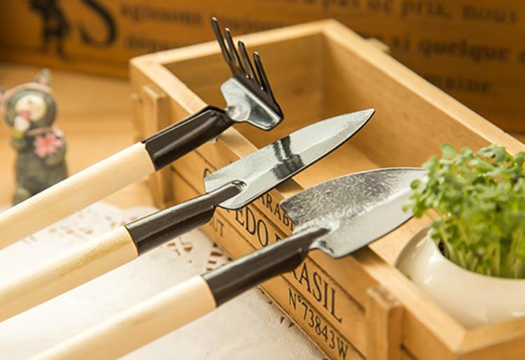 3 pcs / set! hand tools gardening kit ferramentas bonsai  Iron shovel rake shovel ripper  garden digging tools