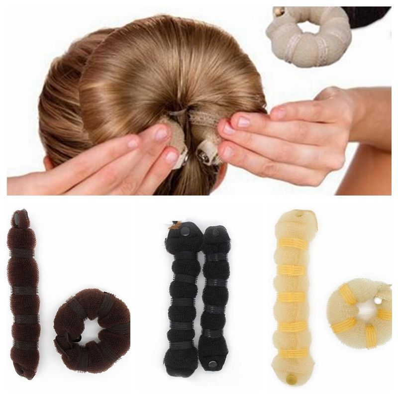 2Pcs Best selling Fashion Hair Tools Elegant Magic Style Buns Headwear Hair Rope Hair Accessories(China (Mainland))