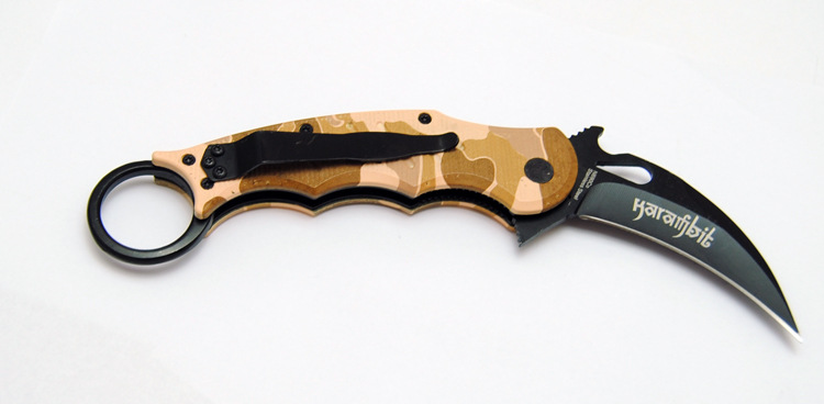 Buy Pocket Fox Karambit scorpion Claw Machete tactical knife Fixed Camping Survival Tools Hunting Fighting Knives cheap