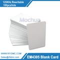 125KHz em4305 Blank card rewritable for access control