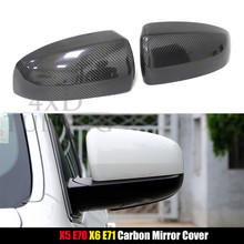 Buy X Series BMW X5 E70 & X6 E71 Carbon Fiber Rear View Mirror Cover Replace & Add style 2007 2008 2009 2010 2011 2012 2013 for $50.50 in AliExpress store
