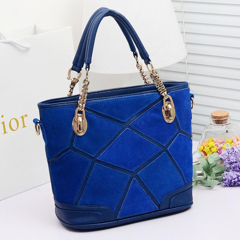 Autumn fashion 2013 women's fashion handbag suede genuine ...