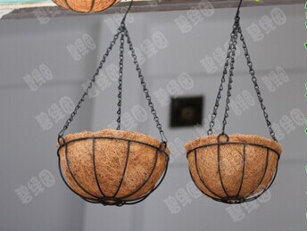 052841 2 pieces/lot The suspension, wrought iron coconut hanging POTS balcony hanging basket Circular hanging basket hanging(China (Mainland))