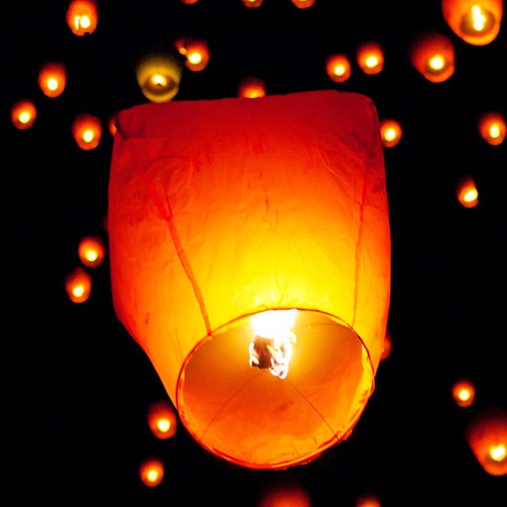 10pcs/Lot Chinese Paper Lantern Sky Lanterns Flying Wishing Lamp Kongming Lantern Balloon Wedding Party Decoration Supplies(China (Mainland))
