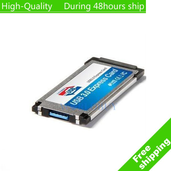 Inside Hide 34mm Express card Express to 5Gbps USB 3.0 Cardbus Expansion Card High Quality For Laptop Free shipping(China (Mainland))