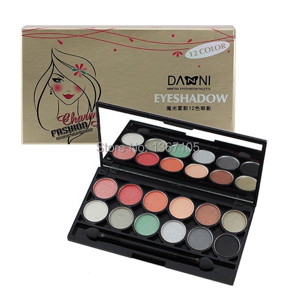 New In Box Danni The New Art 12 Colors Eye Shadow Palette - Shimmy And Naked Collection-JB03(China (Mainland))