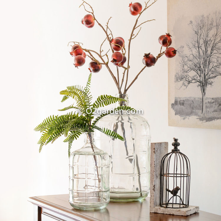 Ceramic club o glass vase transparent european retro - Living room flower decorations ...