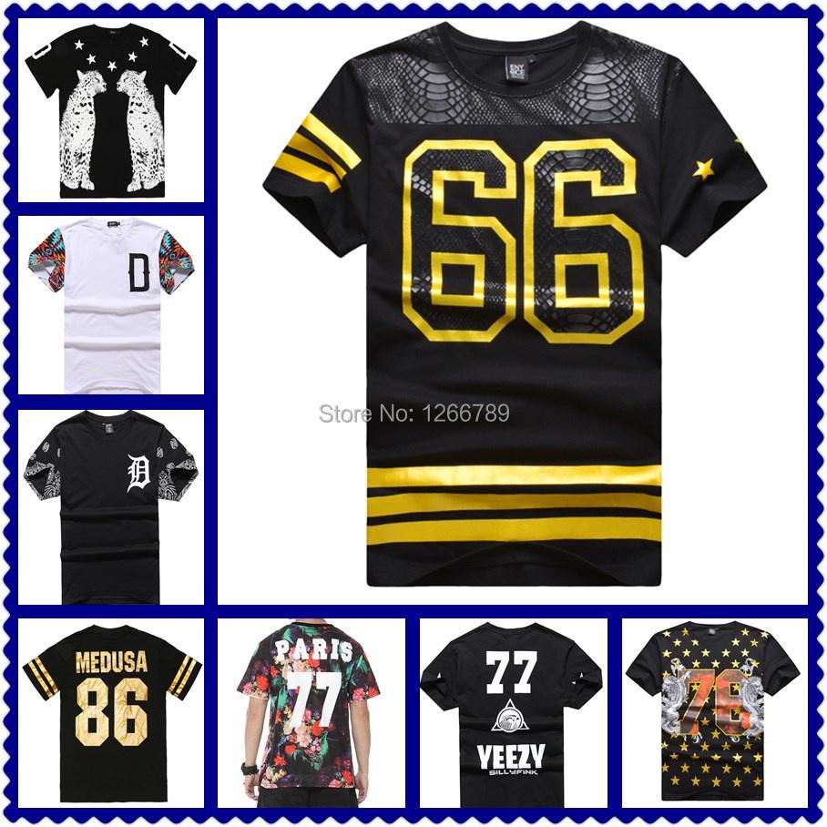 New styles 2015 hiphop good quality mens pyrex ktz short Sleeve t shirt summer fashion hba hip hop clothing medusa American Flag(China (Mainland))