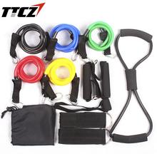 12Pcs/Set Fitness Resistance Band Crossfit Exercise Tubes Practical Elastic Training Rope Yoga Pull Rope Pilates Workout Cordage