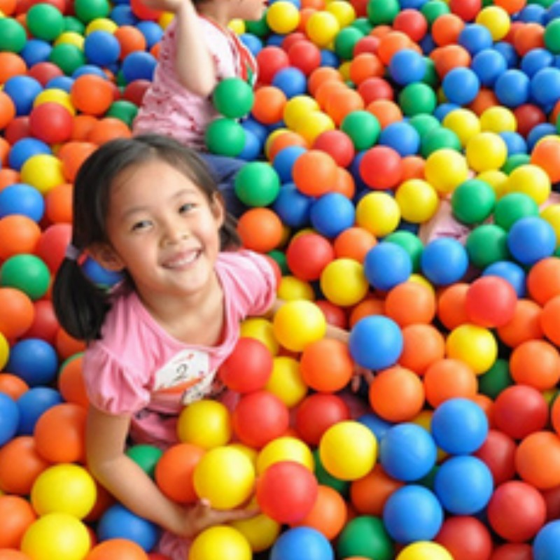 4-8cm ball pits 100pcs colorful baby ball toy good gift for kids PE no harm to baby(China (Mainland))