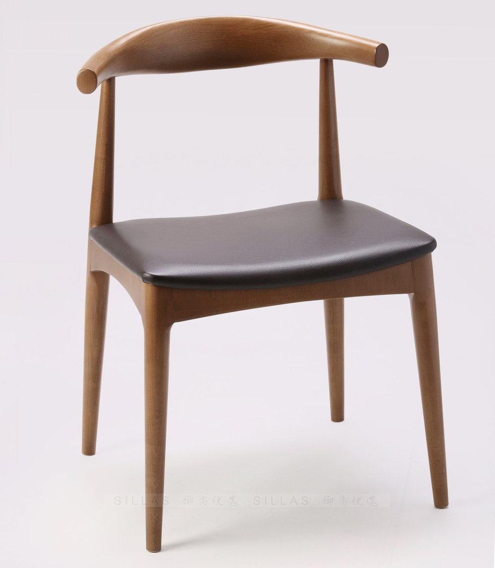 Scandinavian masters classic danish designer horn chair for Wooden dining chair designs