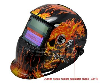 DIN.9-13 automatic Welding Helmet Solar cells& lithium less than 20Amps TIG welding  SY001