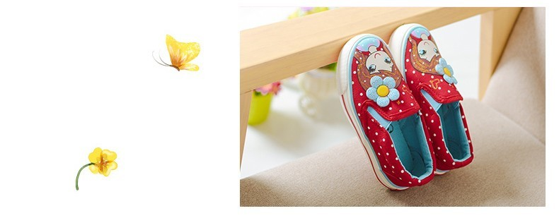 Girls Canvas Shoes Children Fashion Girl Dot Pattern Kids Sneakers Denim Girls Princess Shoes Casual Footwear for Spring Summer (12)