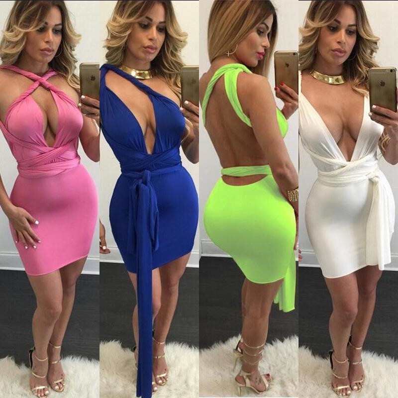 5 colors S-XL white black pink summer style women sexy club party dress women bodycon bandage dresses fashion vestidos XD552(China (Mainland))