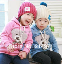 hot sale ! free shipping!! 5pcs/lot baby /Toddler /kids bear Sweater/ coat Sweater/Kids Clothes new fashion outdoor baby coat(China (Mainland))