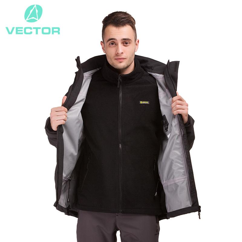 VECTOR Winter Outdoor Jacket Men Warm Waterproof Jacket 3 in 1 Camping Hiking Jackets Skiing Snowboarding Windbreaker 60018(China (Mainland))