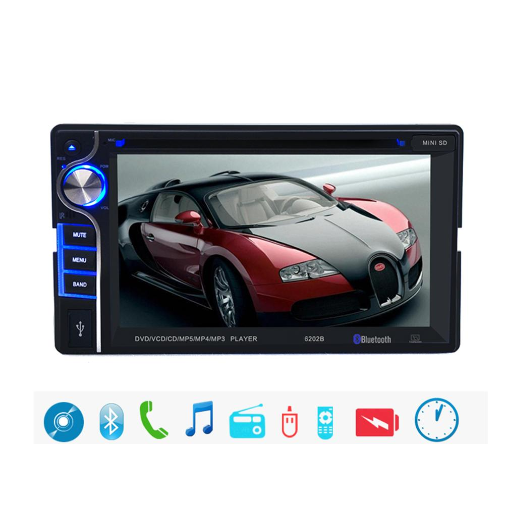 6.2inch DVD SD Card Player Touch Screen Videos FM Radio 2 DIN in Dash Bluetooth(China (Mainland))