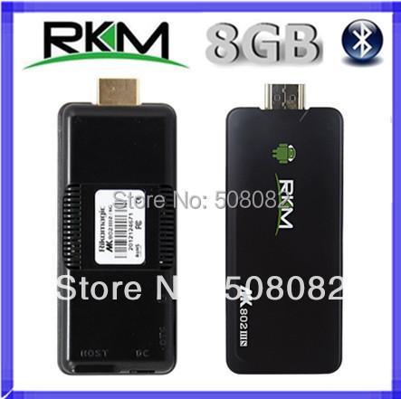2pcs/lot Rikomagic MK802 IIIS MK802IIIS Bluetooth Android 4.4.2 TV BOX MINI PC DUAL CORE RAM 1GB ROM 8GB RK3066 HDMI WIFI(China (Mainland))