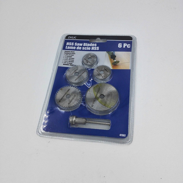 "tools set drill bits 6pc HSS Saw Blades For Metal & For Dremel Rotary tools (7/8"" 1"" 1-1/4"" 1-1/2"" 1-3/4"" 1/8"") powe tools"