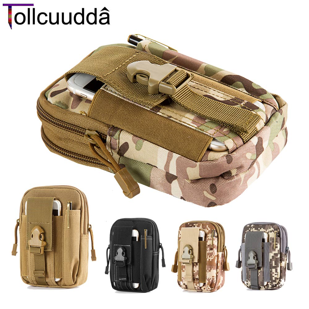 Outdoor Tactical Military Phone Belt Pouch Bag Case Mobile Cell Sport Waist Phone Bags Wallet Zipper Holster Bag For iPhone 6 +(China (Mainland))